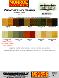 AIM Weathering Products by Monroe Models